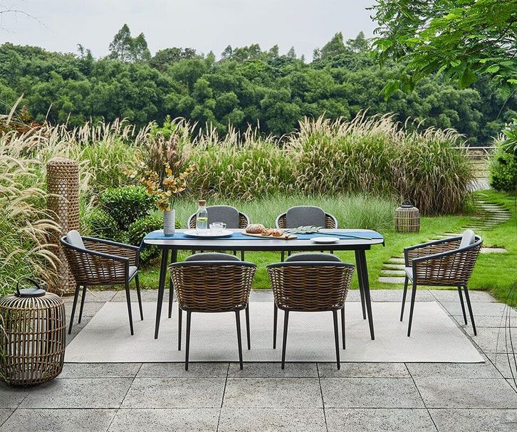 Salerno Outdoor Garden Dining Set
