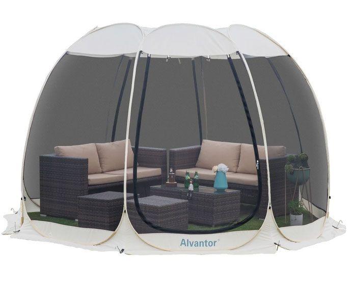 Alvantor 12'x12' Outdoor Instant Pop Up Screen House Canopy Gazebo Screen Shelter