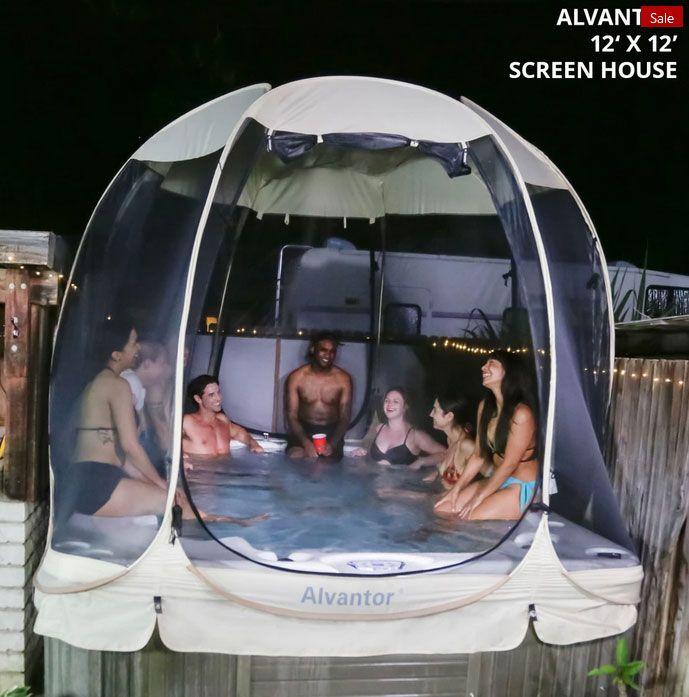 Alvantor 15'x15' Screen House Outdoor Canopy Patio Gazebo for Parties and Outdoor Activities