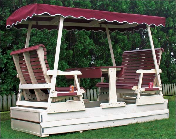 Poly Lumber Biscayne Glider